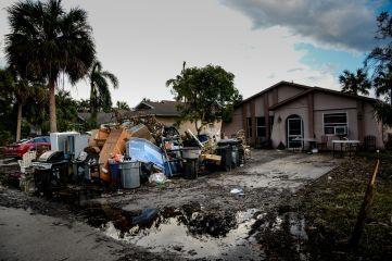 September 22, 2017. Bonita Springs, Florida. A neighborhood located on Imperial Pkwy in Bonita Springs, Florida. Almost two weeks later, flooding is still impacting residents. Photo by Daniel Cima for the American Red Cross