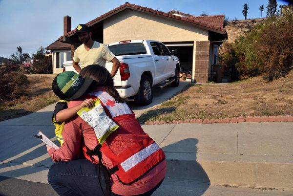 Red Cross Volunteer Offers 'A Shoulder To Cry On'
